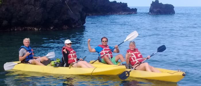 Kayaking in Kealakekua Bay, Captain Cook, HI